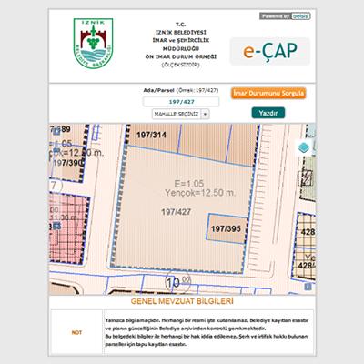 İznik Belediyesi İmar Planları İnternette!